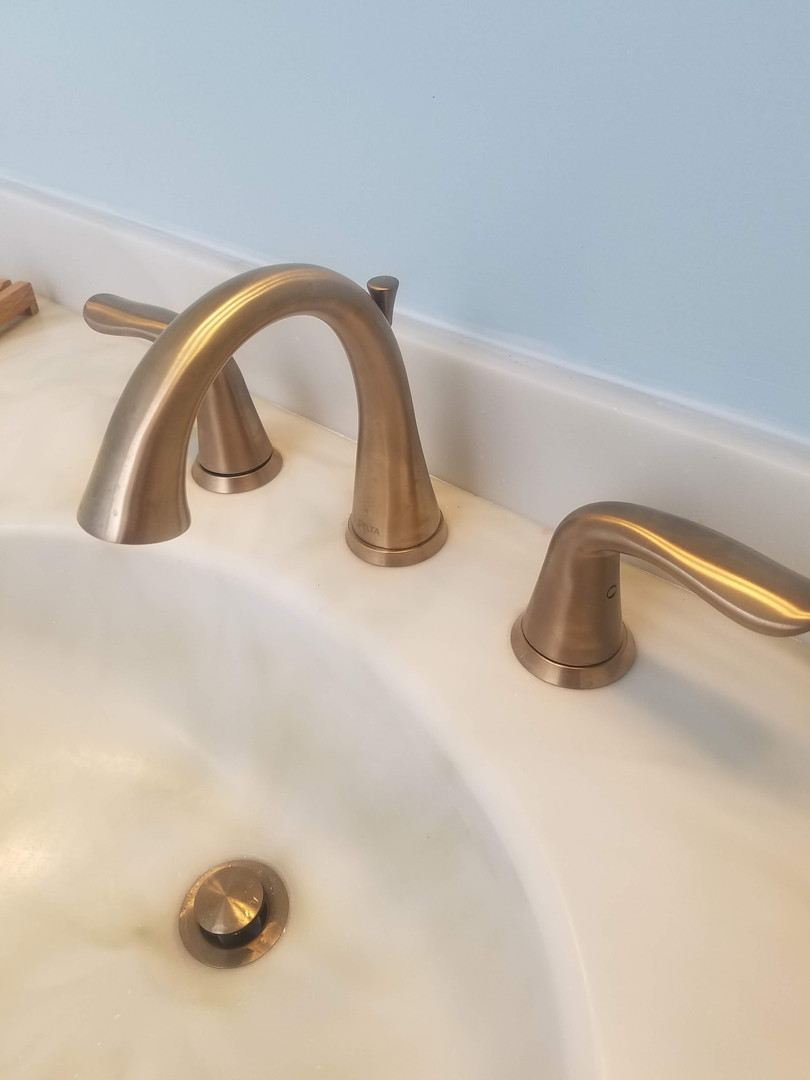 Gorgeous Brushed Gold Faucet!