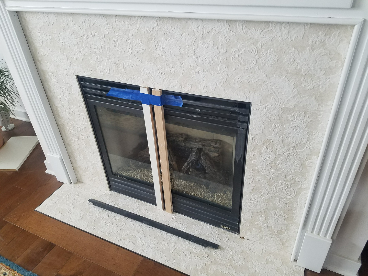 New Tile Fireplace Surround