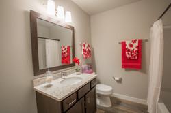 Staged Basement Bathroom