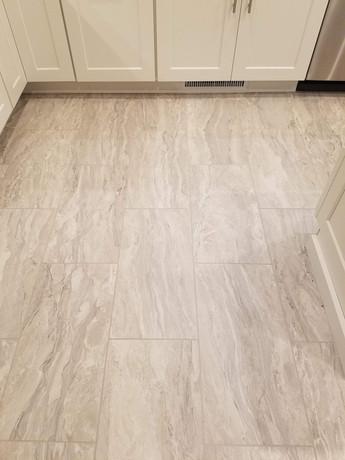 New 12 x 24 TIle Flooring
