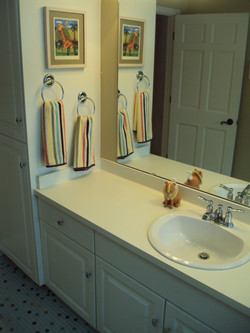 Re-purposed sink from powder room