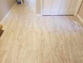 New Tile Floor & Painted Trim