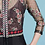 Thumbnail: Embroidered Mulberry 3/4 Sleeve Sheath