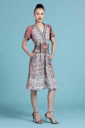 Printed Kimono Convertible Dress