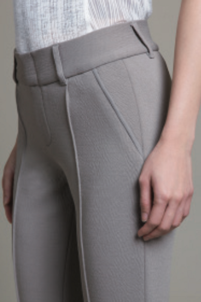 CLASSIC SLIM TROUSER  shown in Greige