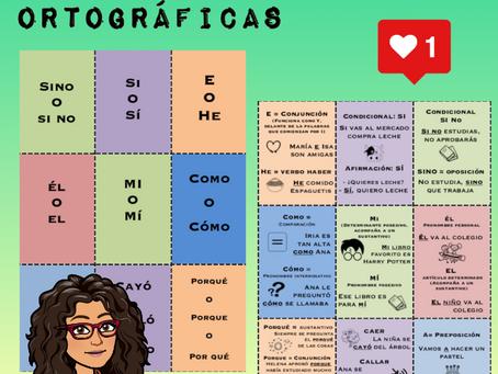 Fichas para emergencias ortográficas (Parte 1)