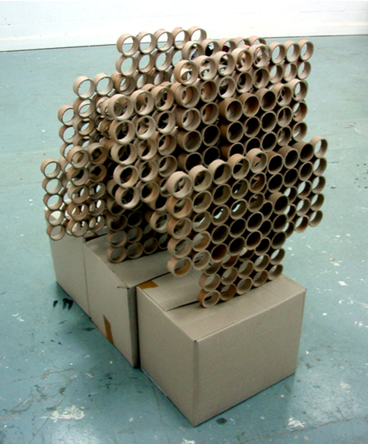 Reconfigured cardboard tubes (2007)