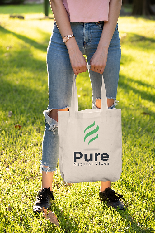 Pure Natural Vibes Natural Canvas Tote