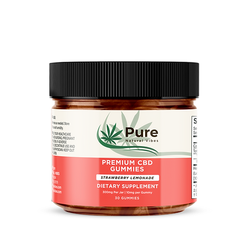 Premium CBD Gummies STRAWBERRY LEMONADE
