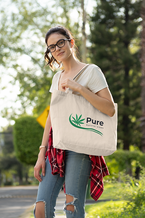 Pure Natural Vibes Zippered Tote