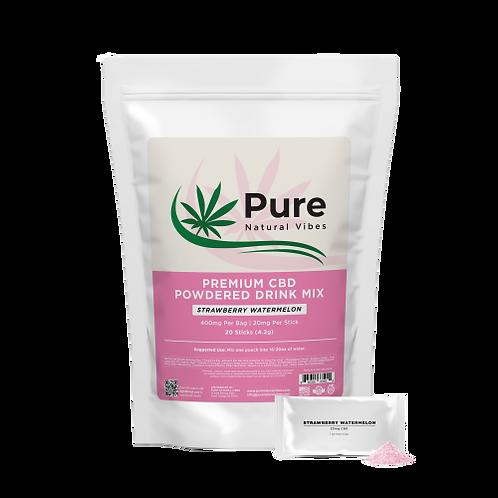 Premium CBD Powdered Drink Mix Strawberry Watermelon (20 Ser)