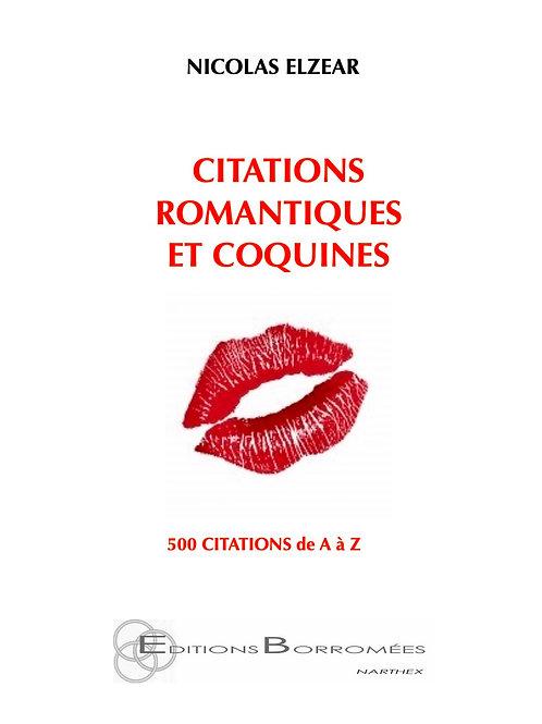 CITATIONS ROMANTIQUES ET COQUINES