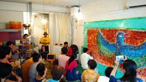 その724 2019 9/16 ナマステ日本橋 アーユルヴェーダ講座&Swaminathanとコラボライブペイント!@creative hub131