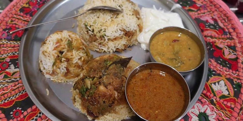 日本橋でミールス(南インド定食)食べさせられ放題 スピンオフ企画 〜みんなでビリヤニを食べるでござる〜