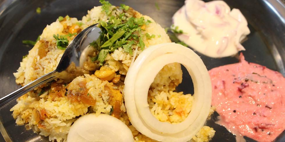 スパイスの極意を学んで南インド料理を作ろう!〜ムール貝のビリヤニ〜 午前の部