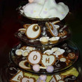 Spice cookies, royal icing, rolled fondant