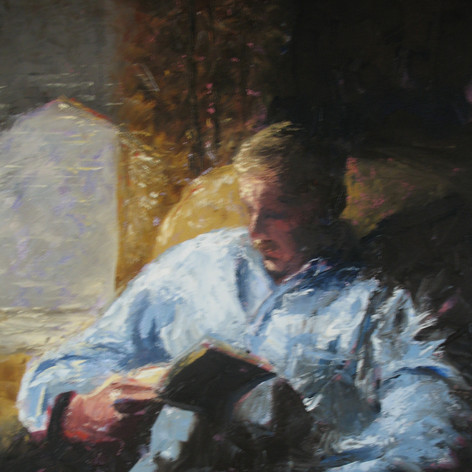 The Reader | Acrylic on canvas, 12x16