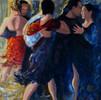 Fringe, Fishnets and Passion | Acrylic on Canvas, 20x24