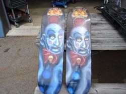 Vinyl Wrapped Skateboard