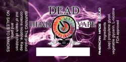Dead Head Vape label