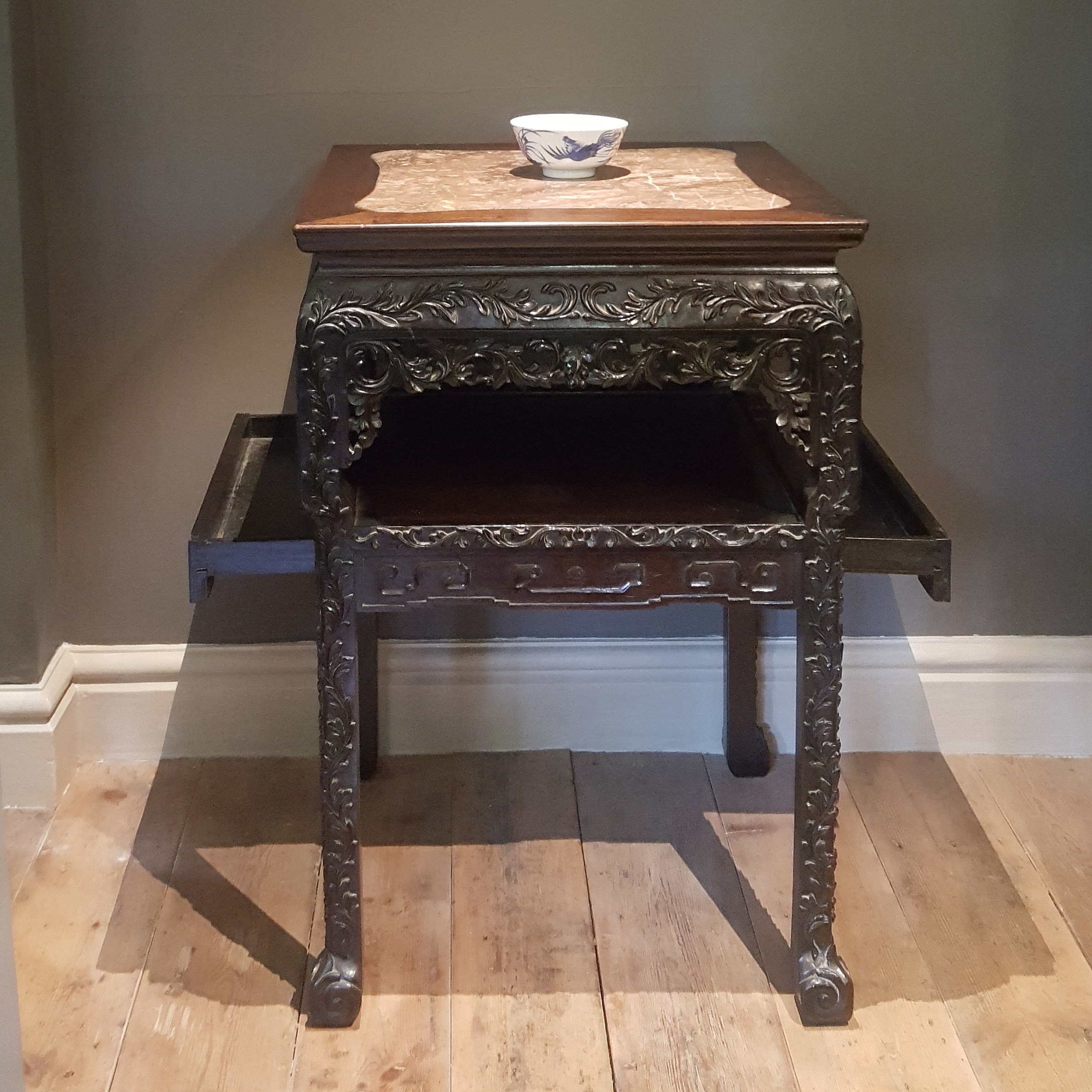 Chinese table with two drawers.