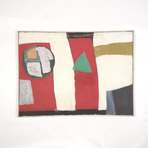 Painting by Islwyn Watkins, 1960.          99 cm x 73 cm