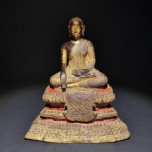 BRONZE BUDDHA,THAILAND, 19th CENTURY