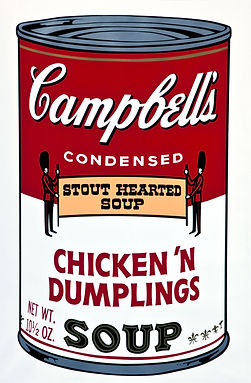Andy Warhol CAMPBELL'S SOUP  1969 CHICKEN DUMPLINGS