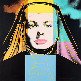 Andy Warhol  THE NUN - INGRID BERGMAN