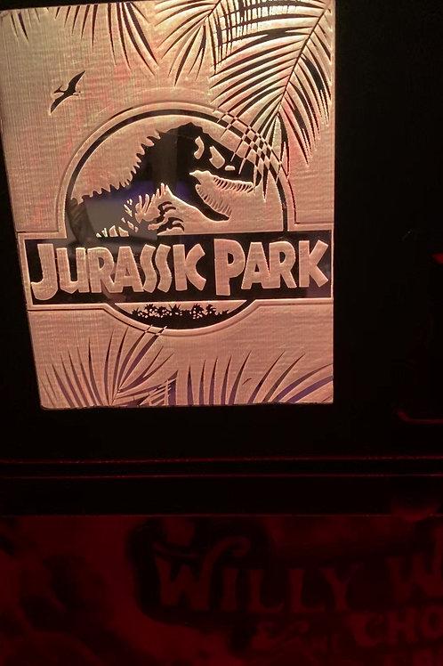 Jurassic Park Pin Plate Coin Door Mod