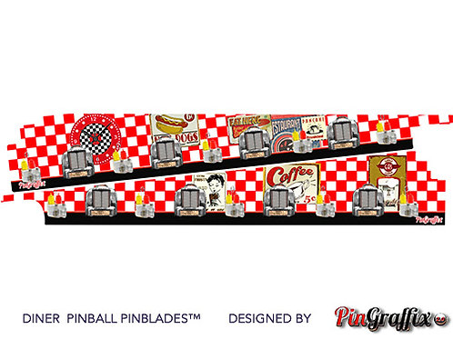 Diner Pinball Machine Inner Art PinBlades™ -Bally/Williams