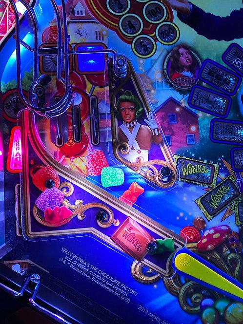 Willy Wonka Pinball Plastic Protectors