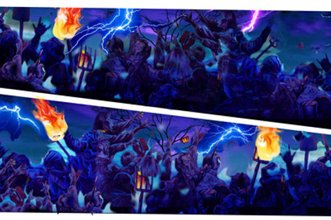 Monster Bash Inner Art PinBlades -Bally/Williams