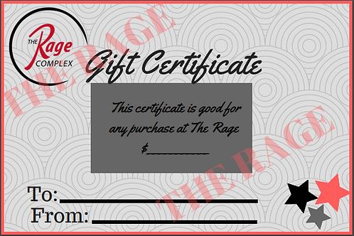 Gift Certificate Varied Amounts