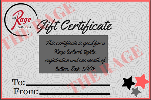 Gift of Dance - Gift Certificate