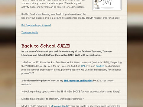 Check It Out: Back to School Newsletter