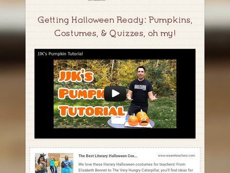 Check It Out: October Newsletter, Scary Stories edition