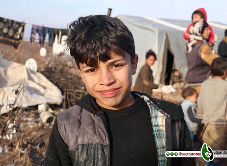 """""""INILAH SEKOLAH KAMI"""" LAUNG ANAK-ANAK SYRIA ITU DENGAN BANGGA."""