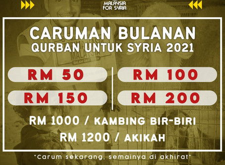 Caruman Bulanan Qurban 2021
