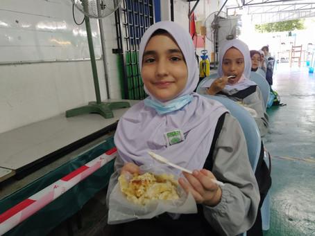 Tajaan Makanan untuk Anak Syria.