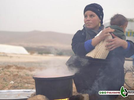 """Saya terpaksa mengorbankan semua baju-baju untuk di jadikan bahan bakar memanaskan rumah"". - Syria."