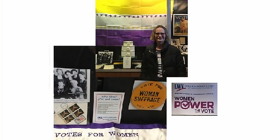 """""""Women Power the Vote."""" LWV of the Lawrence Area Participates in Day of Action for Organization's 100th Birthday"""