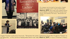 "March 6, 2019 Author Angela P. Dodson discusses her book ""Remember the Ladies"""