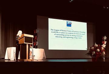 Nicole Introducing senior awards 6-6-19.