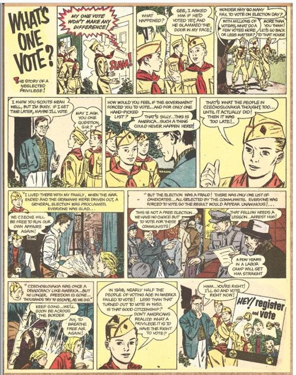 What's One Vote- cartoon from Ellen Maak