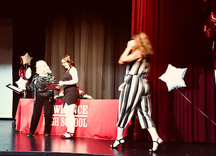 Nicole, Maura, Cassidy accepting awards