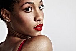 Rouge à lèvres rouge mat