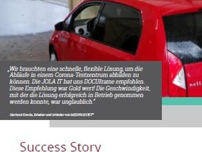 JOLA - Gemeinsame Success Story mit GSD Software - Das erste Corona Testzentrum von MEDPRODUKT