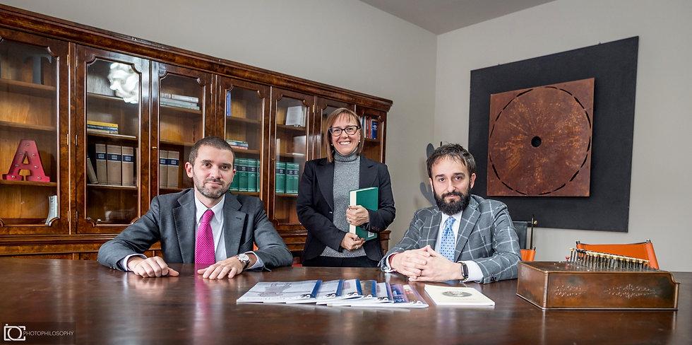 Avv. Giuseppe Fissore, Avv. Cristina Migliazza, Avv. Giacomo Telmon