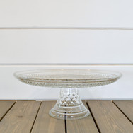 """10"""" quilted glass cake stand  15.  qty. 2"""
